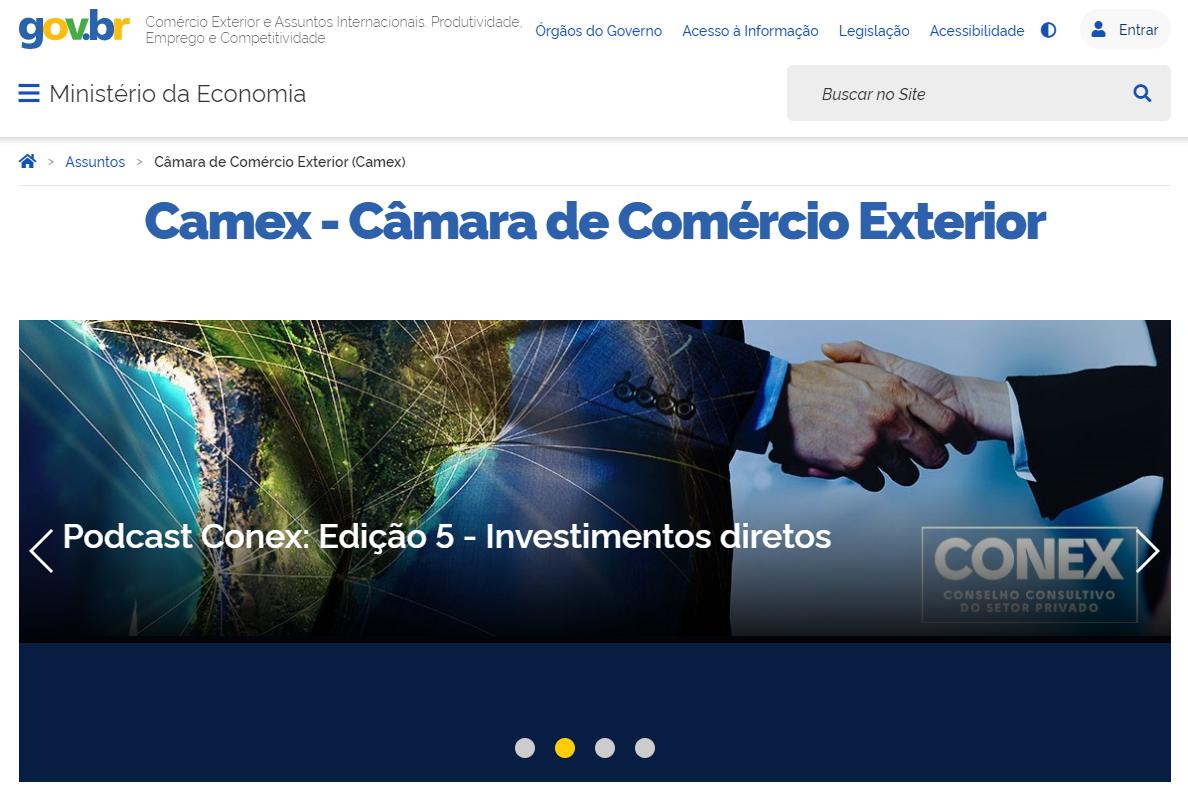Conheça o novo site da Camex